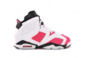 Air Jordan 6 Retro GS White/Coral Rose