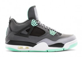 Air Jordan 4 Retro Green Glow Mens